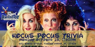 Hocus Pocus Trivia at Aviator Tap House