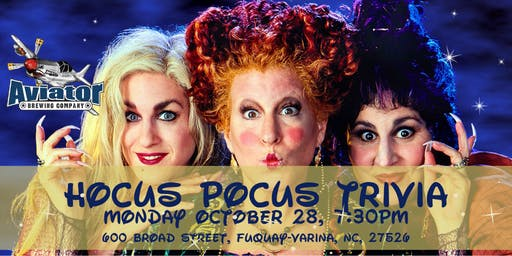 Hocus Pocus Trivia at Aviator Tap House