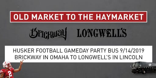 Husker Football Gameday Party Bus 9/14/19