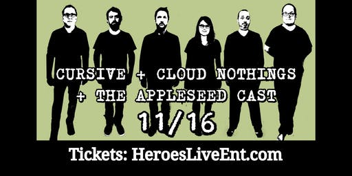 Cursive, Cloud Nothings & The Appleseed Cast