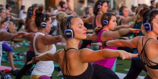 Rooftop Silent Disco Yoga
