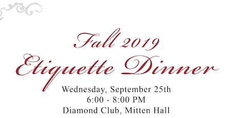 TCC Etiquette Dinner tickets
