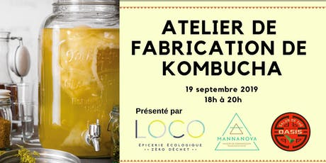 Atelier de fabrication de kombucha - Villeray 19 septembre 2019 tickets