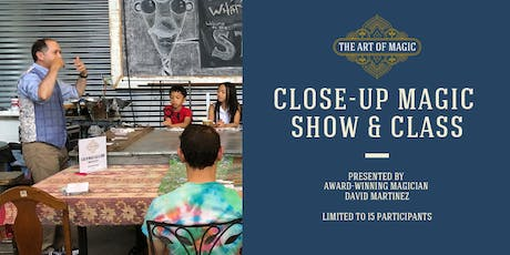 The Art of Magic: Close-Up Magic Show and Class tickets