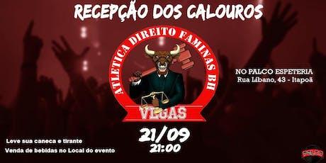 Recepção dos CALOUROS Direito Faminas BH ingressos