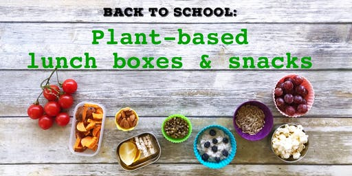 Plant-based School Lunchboxes & Snacks - Lunch & Learn