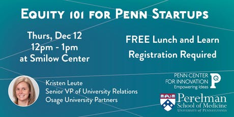 Equity 101 for Penn Startups tickets