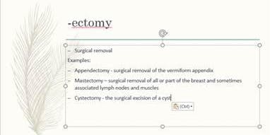 The End of it All: Medical Terminology Suffixes August 28 at 4 pm PST/6 pm CST/7 pm EST