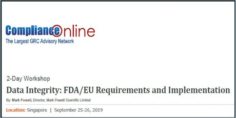 Data Integrity: FDA/EU Requirements and Implementation: 2-Day Workshop tickets