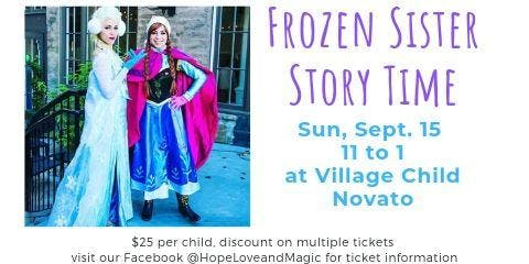 Frozen Sister Story Time