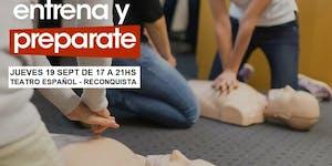 19/09 RECONQUISTA CURSO DE RCP Y PRIMEROS AUXILIOS