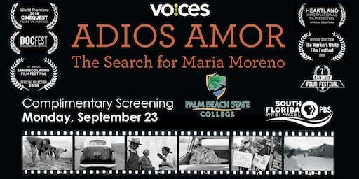 VOCES: Adios Amor The Search for Maria Moreno