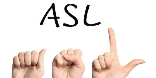 Deaf and Hard of Hearing Day at Bar K - Basic ASL Workshop