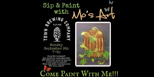 Queen City Sip and Paint with Mo