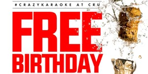 FREE BIRTHDAY TABLE w/ BOTTLE of CHAMPAGNE at CRU...