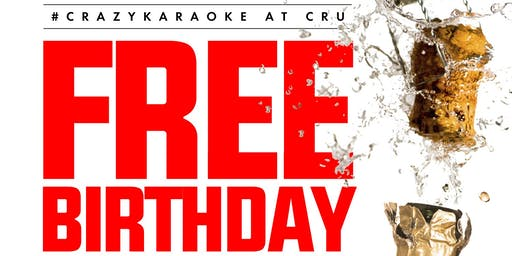 FREE BIRTHDAY TABLE w/ BOTTLE of CHAMPAGNE at CRU LOUNGE