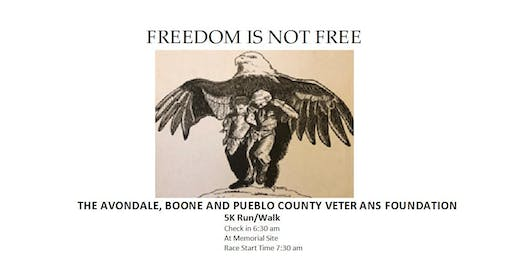 Avondale Boone  Pueblo County Veterans foundation /VO2 5k run/walk