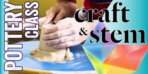 Adult Pottery Class - Saturday Evening - 6:30 pm to 8:30 pm