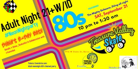 Adult #NeonNight 80s Themed Party tickets