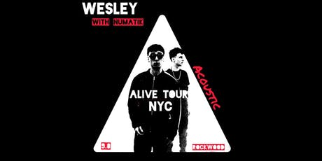 WESLEY: Alive Tour NYC (Acoustic Lounge) tickets