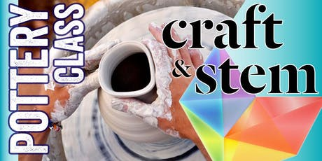 Adult Pottery Class - Sunday Afternoon - 3 pm to 5 pm tickets