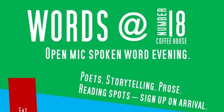 Words at No 18: Open Mic Spoken Word Evening tickets