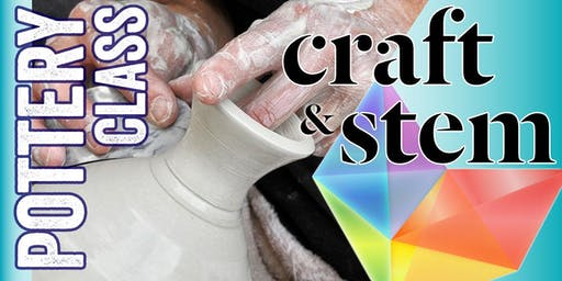 Adult Pottery Class - Wednesday Mornings - 10:30 am to 12:30 pm