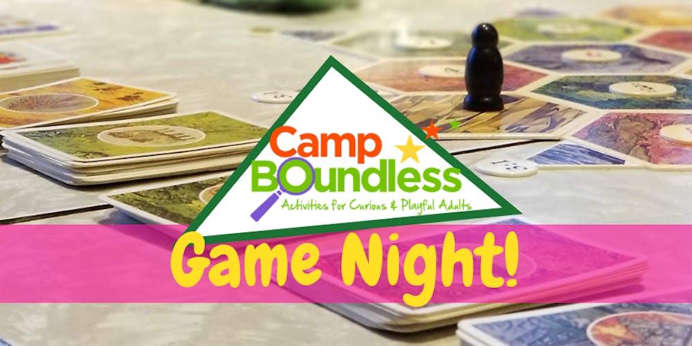 Camp Boundless Pop-Up: Game Night!