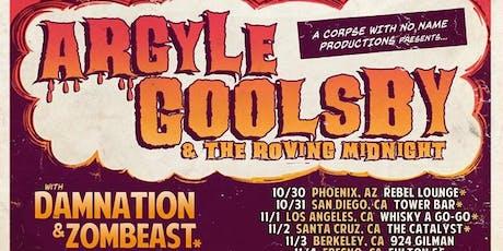 Argyle Goolsby, Zombeast, Damnation, The Gutz tickets