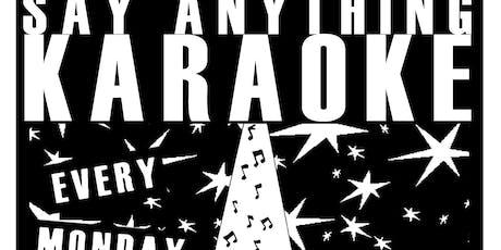 Say Anything Karaoke tickets