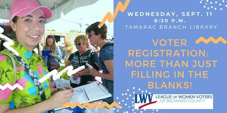 Voter Registration:  More than just filling in the blanks! tickets