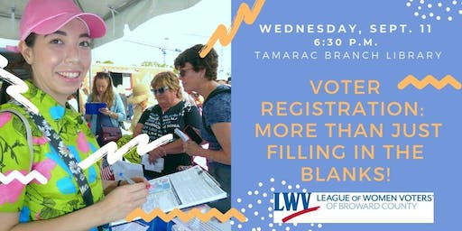 Voter Registration:  More than just filling in the blanks!