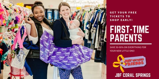First Time Parent/Grandparent FREE Pass | JBF Coral Springs | Oct 2