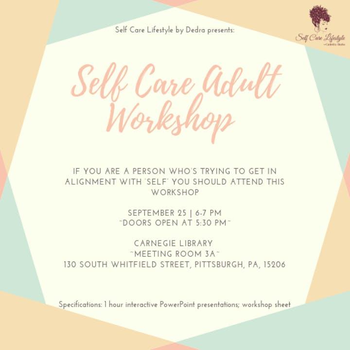 How Should I Say It Workshop For >> Self Care Adult 18 Workshop Registration Wed Sep 25