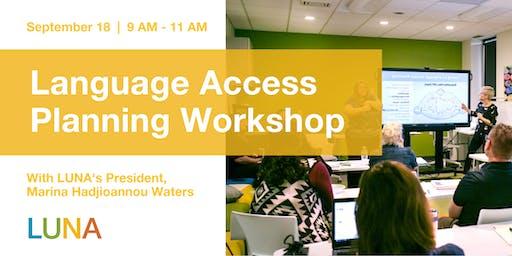 Language Access Planning Workshop