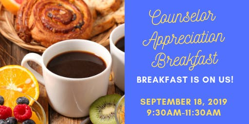 Counselor Appreciation Breakfast