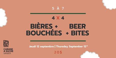 5 à 7 - Bières et bouchées | Beer & bites billets