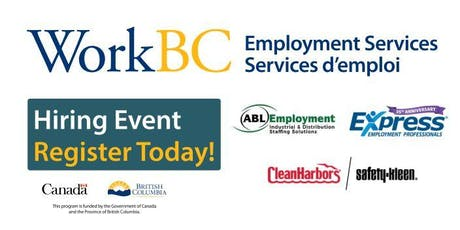 Delta WorkBC Centre Hiring Event tickets
