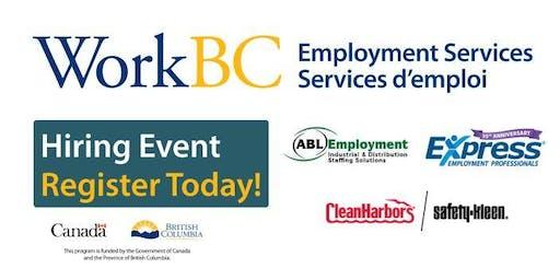 Delta WorkBC Centre Hiring Event