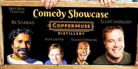Comedy Showcase at CopperMuse Distillery tickets