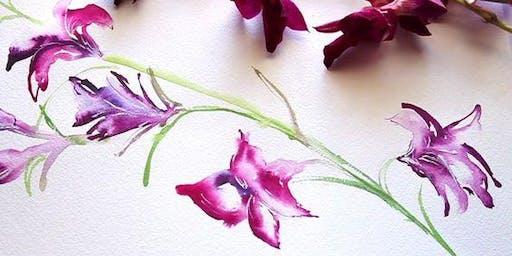 Watercolor Orchids Workshop