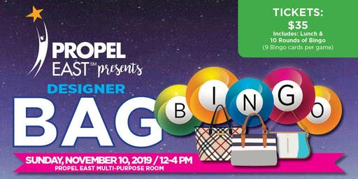 Propel East: Designer Bag Bingo