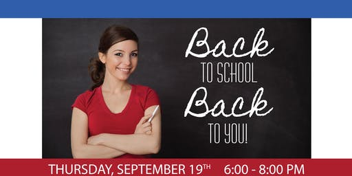 Back to School Back to You Event
