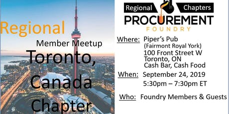 Toronto, Canada Member Meetup -  September 2019 tickets