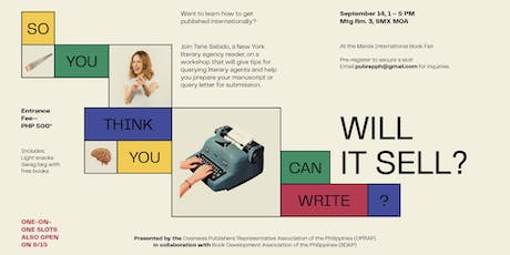 SO YOU THINK YOU CAN WRITE...WILL IT SELL? tickets