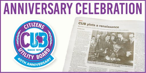 Citizens Utility Board of Wisconsin 40th Anniversary Celebration