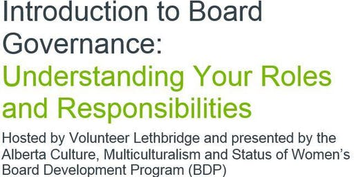 Introduction to Board Governance