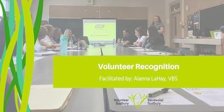 Volunteer Recognition tickets