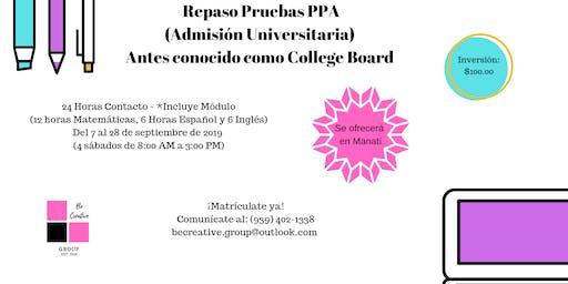 Repaso Prueba de Admisión Universitaria PPA (College Board)
