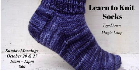 Learn to Knit Socks Top-Down tickets